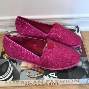 💕 NWOT glittery flat shoes